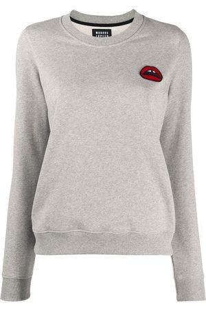 Markus Lupfer Lips embroidered sweatshirt - Grey