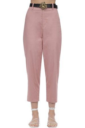 Acheval Pampa Women Pants - Al Viento Cropped Cotton Satin Pants