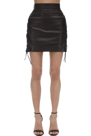 VERSACE Leather Mini Skirt