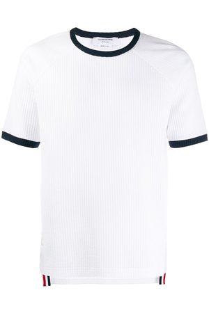 Thom Browne Seersucker short-sleeve ringer T-shirt
