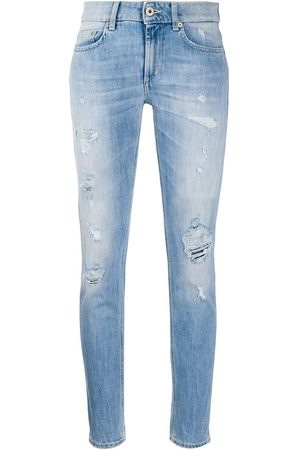 Dondup High rise skinny fit stonewashed jeans