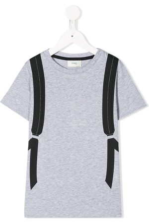 Fendi Bag Bugs backpack T-shirt - Grey
