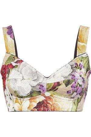 Dolce & Gabbana Floral brocade bustier
