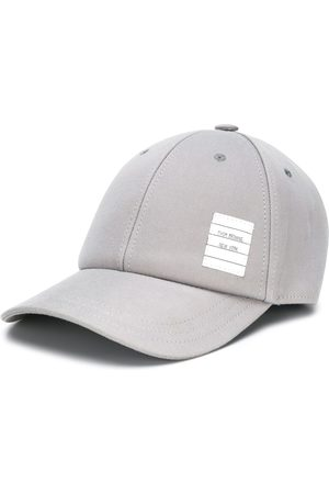 Thom Browne Twill 6-panel baseball cap - Grey