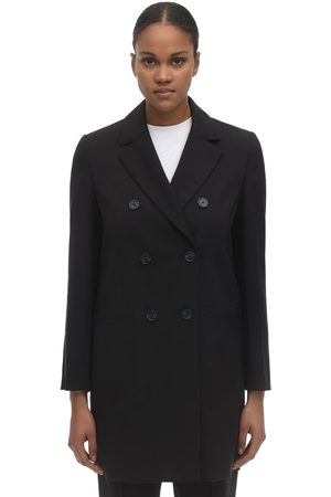 A.P.C Long Pearled Double Breast Twill Jacket