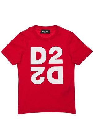 Dsquared2 Logo Printed Cotton Jersey T-shirt