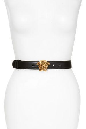 VERSACE Women's Medusa Calfskin Leather Belt