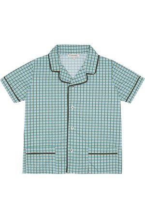 Caramel Holborn checked cotton shirt