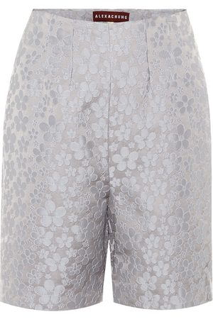 AlexaChung High-rise jacquard shorts