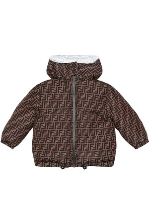 Fendi Logo reversible down jacket