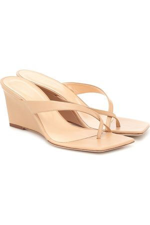 By Far Women Wedges - Theresa leather wedge sandals