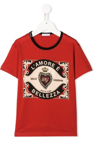 Dolce & Gabbana Boys T-shirts - Graphic-print cotton T-shirt
