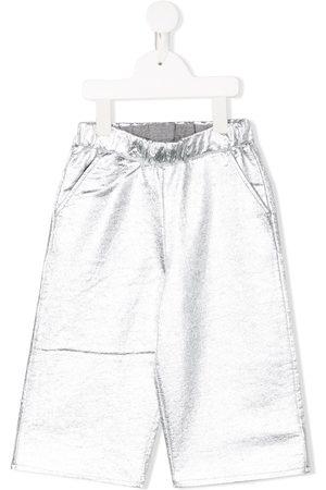 DOUUOD KIDS High-waisted wide leg trousers