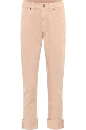 Brunello Cucinelli High-rise cropped straight jeans
