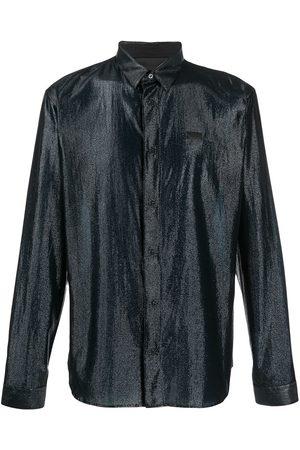 Philipp Plein Metallic long-sleeve shirt