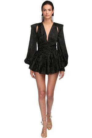 The Attico Viscose Jacquard Mini Dress