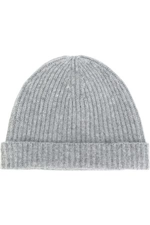 N.PEAL Ribbed beanie - Grey