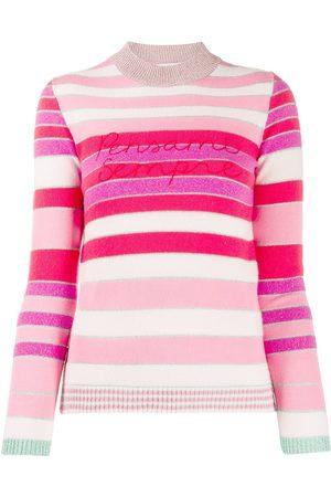 GIADA BENINCASA Women Sweaters - Love stripes slogan jumper