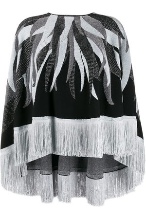 Roberto Cavalli Women Ponchos & Capes - Fringed hem knitted cape