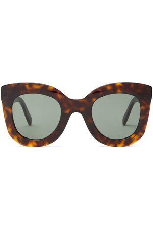 Céline Oversized Round Tortoise-effect Acetate Sunglasses - Womens - Tortoiseshell