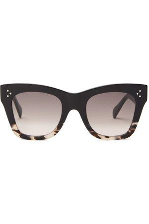 Celine Eyewear Women Square - Gradient Square Acetate Sunglasses - Womens - Multi