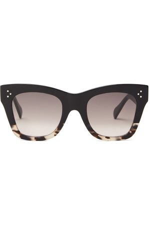 Céline Gradient Square Acetate Sunglasses - Womens - Multi