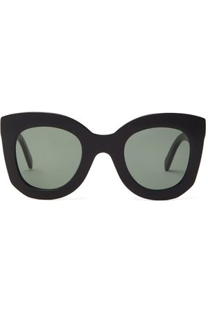 Céline Oversized Round Acetate Sunglasses - Womens