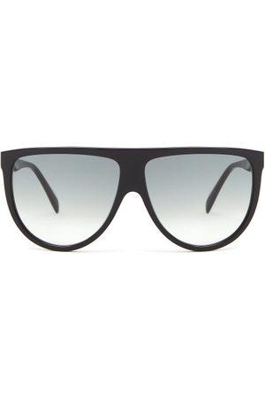 Céline Oversized Flat-top Acetate Sunglasses - Womens
