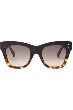 Céline Square Tortoiseshell-gradient Acetate Sunglasses - Womens