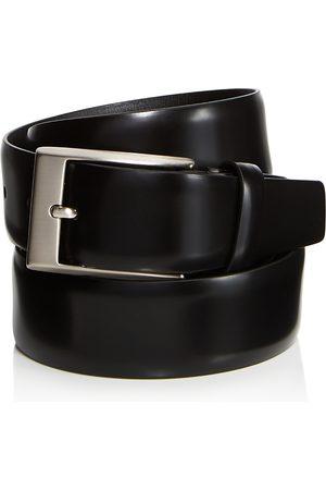 CANALI Men Belts - Men's Shiny Smooth Leather Belt