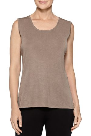 Misook Women Tank Tops - Classic Knit Scoop-Neck Tank