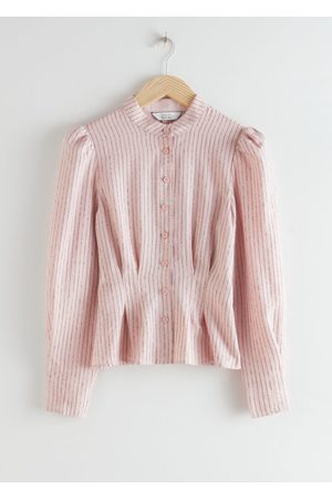 & OTHER STORIES Glitter Striped Button Up Blouse