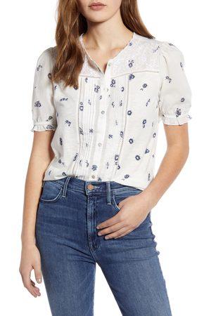 Lucky Brand Women's Floral Short Sleeve Top