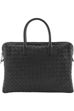 Bottega Veneta Intreciatto leather briefcase