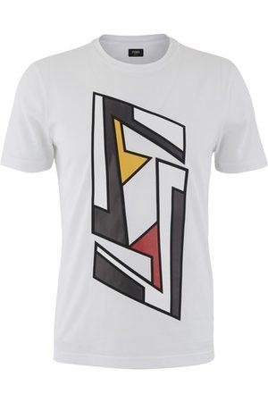 Fendi Futuristic Logo printed T-shirt