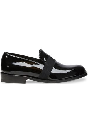 J.M. Weston Patent calf leather loafers