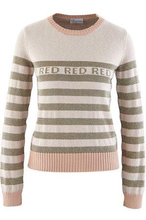 RED Valentino Striped logo jumper