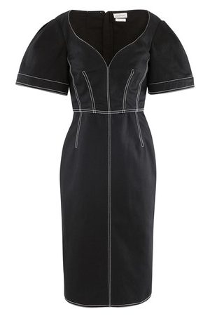 Alexander McQueen Midi dress in cotton