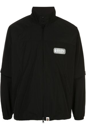 A BATHING APE® Logo print bomber jacket