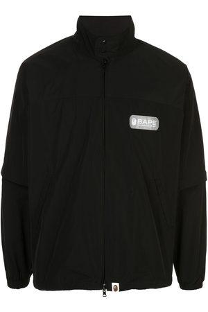 BAPE Logo print bomber jacket