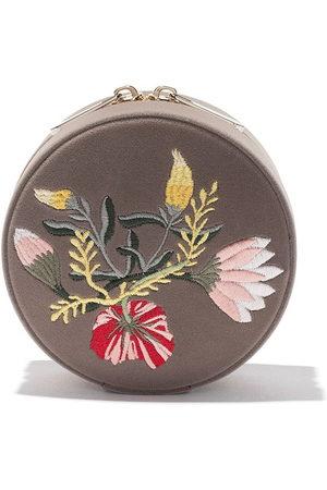 Wolf Floral round jewellery box - Mink