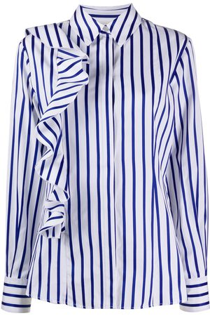 Msgm Striped ruffled shirt