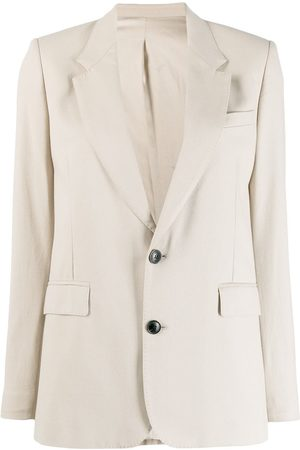 AMI Paris Half-Lined Two Buttons Jacket - Neutrals