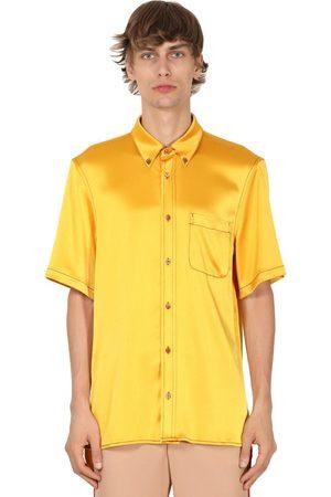 Sies marjan Crinkled S/s Tech Satin Shirt