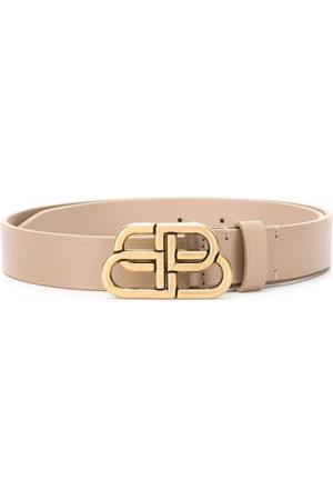 Balenciaga Women Belts - BB buckle belt - Neutrals
