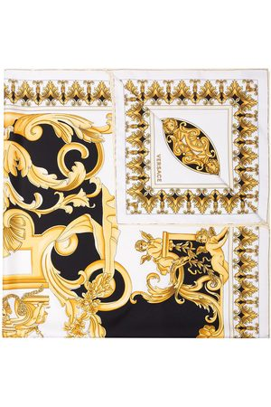 VERSACE Multi Baroque Print Silk Foulard Scarf - Multicolour