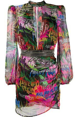 Philipp Plein Women Party Dresses - Jungle Rock long-sleeve dress