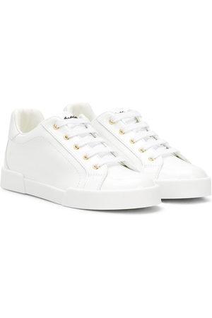 Dolce & Gabbana Portofino patent leather sneakers