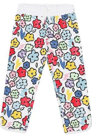Stella McCartney Girls Tracksuits - Smiling Flowers cotton trackpants