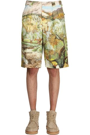 Jacquemus Printed Cotton & Linen Bermuda Shorts